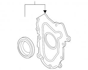 Prednji dekl motora sa semeringom radilice