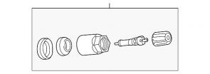 Set ventila i kapica TPMS